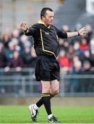 26 October 2014; Referee Brendan Sweeney. AIB Ulster GAA Hurling Senior Club Championship, Semi-Final Replay, Ruairi Og v Slaughtneil, Loughgiel, Antrim. Picture credit: Oliver McVeigh / SPORTSFILE