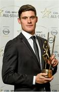 24 October 2014; Dublin footballer Diarmuid Connolly with his 2014 GAA GPA All-Star award at the 2014 GAA GPA All-Star Awards, sponsored by Opel. Convention Centre, Dublin. Picture credit: Paul Mohan / SPORTSFILE