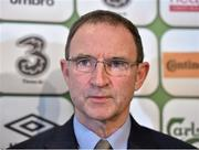 29 October 2014; Martin O'Neill, Republic of Ireland, manager during a squad announcement. Republic of Ireland Squad Announcement, FAI Headquarters, Abbotstown, Dublin. Picture credit: Matt Browne / SPORTSFILE