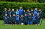30 October 2014; Leinster's Ian Fitzpatrick, centre, with players from the Leinster School of Excellence on Tour in Westmanstown RFC, Westmanstown, Co. Dublin. Picture credit: Matt Browne / SPORTSFILE