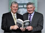 30 October 2014; Eugene McGee with Mick O'Dwyer at the launch of his book 'The GAA in My Time' by Eugene McGee. Croke Park, Dublin. Picture credit: Matt Browne / SPORTSFILE