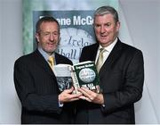 30 October 2014; Eugene McGee with former GAA PresidentSeán Kelly, MEP, at the launch of his book 'The GAA in My Time' by Eugene McGee. Croke Park, Dublin. Picture credit: Matt Browne / SPORTSFILE