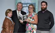 30 October 2014; Eugene McGee with his wife Marian, daughter Linda, and son Conor during the launch of his book 'The GAA in My Time' by Eugene McGee. Croke Park, Dublin. Picture credit: Matt Browne / SPORTSFILE