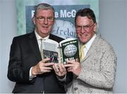 30 October 2014;  Eugene McGee with Mattie Fox, from the Longford Leader, at the launch of his book 'The GAA in My Time' by Eugene McGee. Croke Park, Dublin. Picture credit: Matt Browne / SPORTSFILE