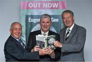 30 October 2014; Eugene McGee with former Meath football manager Seán Boylan, left, and Michéal O Muircheartaigh during the launch of his book  'The GAA in My Time' by Eugene McGee. Croke Park, Dublin. Picture credit: Matt Browne / SPORTSFILE