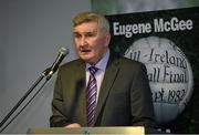 30 October 2014; Former Kerry manager Mick O'Dwyer during the launch of 'The GAA in My Time' by Eugene McGee. Croke Park, Dublin. Picture credit: Matt Browne / SPORTSFILE