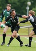 15 May 2007; Ireland's Neil Best, Jerry Flannery and Malcolm O'Kelly in action during squad training. Ireland Rugby Squad Training, University of Limerick, Limerick. Picture credit: Kieran Clancy / SPORTSFILE