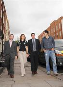 15 May 2007; Phil Moore, second from right, who was announced as the new Director of Athlete Services at the Irish Institute of Sport photographed with, from left, Sean Kelly, Executive Chairman of the Irish Institute of Sport, Irish Rowing team member Sinead Jennings and Mens Irish Hockey captain Steven Butler. Buswells Hotel, Dublin. Picture credit: Paul Mohan / SPORTSFILE