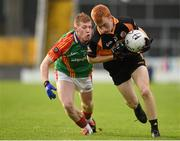 2 November 2014; Shane O'Callaghan, Austin Stacks, in action against Pa Kilkenny, Mid Kerry. Kerry County Senior Football Championship Final Replay, Austin Stacks v Mid Kerry, Fitzgerald Stadium, Killarney, Co. Kerry. Picture credit: Brendan Moran / SPORTSFILE