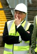 17 May 2007; David Blood, President of the FAI, during a visit to Lansdowne Road Stadium before work commenced on its demolition. Lansdowne Road Stadium, Dublin. Picture credit: Pat Murphy / SPORTSFILE
