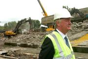 17 May 2007; Mr John O'Donoghue, TD, Minister for Arts, Sport and Tourism, during a visit to the Lansdowne Road Stadium before work commenced on its demolition. Lansdowne Road Stadium, Dublin. Picture credit: Pat Murphy / SPORTSFILE