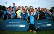 17 May 2007; The Belvedere boys team celebrate with the Evans Cup after victory over Crumlin United. National Irish Bank SFAI Under-15 Evans Cup Final, Belvedere v Crumlin Utd, Home Farm FC, Whitehall, Dublin. National Irish Bank is the title sponsor of the National Irish Bank SFAI Schoolboy Cups which are organised by the Schoolboy Football Association of Ireland, an affiliate of the FAI, and which are grant-aided by the FAI. The premier schoolboy soccer cups in Ireland, they boast Roy Keane and Damien Duff as former players.The National Irish Bank Cups are played by club teams from under-11 up to and including under-16 age groups, with national Finals in Dublin each June. Picture credit: Brendan Moran / SPORTSFILE