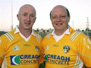 22 May 2007; Antrim managers Domnic McKinley, and Terence McNaughton. Antrim Hurling Media Evening, Casement Park, Belfast, Co. Antrim. Picture credit: Oliver McVeigh / SPORTSFILE