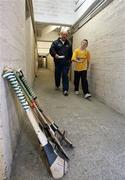 22 May 2007; Antrim Hurling joint manager Terence McNaughton, and his son Christy, leaving training. Antrim Hurling Media Evening, Casement Park, Belfast, Co. Antrim. Picture credit: Oliver McVeigh / SPORTSFILE
