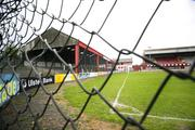 "21 April 2007; A general view of "" THE CAGE "", Stand at Solitude, soon to be demolished. Carnegie Premier League, Cliftonville v Glentoran, Solitude, Belfast, Co. Antrim. Picture credit; Russell Pritchard / SPORTSFILE"