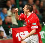 21 April 2007; Chris Scannell, Cliftonville, celebrates his goal. Carnegie Premier League, Cliftonville v Glentoran, Solitude, Belfast, Co. Antrim. Picture credit; Russell Pritchard / SPORTSFILE