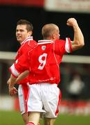 21 April 2007; Chris Scannell, Cliftonville, celebrates his goal with team-mate Sean Cleary. Carnegie Premier League, Cliftonville v Glentoran, Solitude, Belfast, Co. Antrim. Picture credit; Russell Pritchard / SPORTSFILE