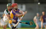2 November 2014; Barry Mulligan, Kilmacud Crokes, in action against Shane Dollard, Rathdowney Errill. AIB Leinster GAA Hurling Senior Club Championship, Quarter-Final, Kilmacud Crokes v Rathdowney Errill, Parnell Park, Dublin. Picture credit: Piaras Ó Mídheach / SPORTSFILE