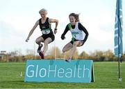 5 November 2014; Fionnuala Britton, Kilcoole A.C, right, and Anne Marie McGlynn, Letterkenny A.C, in attendance at the launch of the GloHealth National Cross Country Championships. Dundalk Institute of Technology, Co. Louth. Picture credit: Oliver McVeigh / SPORTSFILE