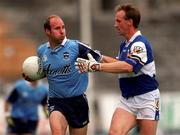 18th July 1999; Brian Stynes, Dublin in action against Tony Maher, Laois, Leinster Football Championship Semi Final Replay, Croke Park. Picture Credit; Damien Eagers/SPORTSFILE.
