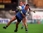 18th July 1999; Enda Sheehy, Dublin in action against Patrick Conway, Laois, Leinster Football Championship Semi Final Replay, Croke Park. Picture Credit; Damien Eagers/SPORTSFILE.