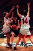 30 January 2000; Karen Hennessy of Meteors during the Women's Basketball Sprite Cup Final between Avonmore Wildcats and Meteors at the National Basketball Arena in Tallaght, Dublin. Photo by Brendan Moran/Sportsfile