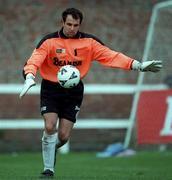 28 February1999; Nicky Broujos, Sligo Rovers goalkeeper, FAI National League, Soccer. Picture credit; David Maher/SPORTSFILE