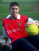 6th January 2000;  Stephen Bradley Arsenal and Rep of Ireland relaxes at his home in Tallaght, Dublin. Soccer. Picture Credit ; David Maher/SPORTSFILE