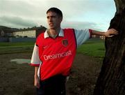 6th January 2000;  Stephen Bradley Arsenal and Rep of Ireland relaxes at his home in Jobstown,Tallaght, Dublin. Soccer. Picture Credit ; David Maher/SPORTSFILE