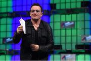 6 November 2014; Bono, Musician, Elevation Partners, on the centre stage during Day 3 of the 2014 Web Summit in the RDS, Dublin, Ireland. Picture credit: Stephen McCarthy / SPORTSFILE / Web Summit