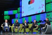 6 November 2014; Bono, Musician, Elevation Partners, on the centre stage during Day 3 of the 2014 Web Summit in the RDS, Dublin, Ireland. Picture credit: Brendan Moran / SPORTSFILE / Web Summit