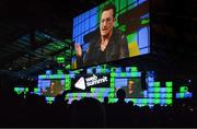 6 November 2014; Bono, Musician, Elevation Partners, on the centre stage during Day 3 of the 2014 Web Summit in the RDS, Dublin, Ireland. Picture credit: Cody Glenn / SPORTSFILE / Web Summit