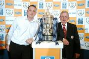 31 May 2007; At the FAI Ford Senior Cup 2nd Round Draw are, from left, Jonathan Roche, Shamrock Rovers and Jack Carney, Sligo Rovers. The Heritage, Killinard, Co Laois. Picture credit: Brendan Moran / SPORTSFILE