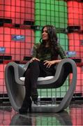 6 November 2014; Ruzwana Bashir, CEO, Peek, on the centre stage during Day 3 of the 2014 Web Summit in the RDS, Dublin, Ireland. Picture credit: Stephen McCarthy / SPORTSFILE / Web Summit *** Local Caption *** Ruzwana Bashir CEO - Peek