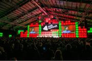 6 November 2014; A general view of the crowd as Adrian Grenier speaks on the centre stage during Day 3 of the 2014 Web Summit in the RDS, Dublin, Ireland. Picture credit: Naoise Culhane / SPORTSFILE / Web Summit