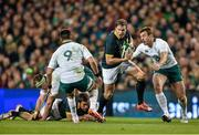 8 November 2014; Jean de Villiers, South Africa, in action against Conor Murray, left, and Tommy Bowe, Ireland. Guinness Series, Ireland v South Africa, Aviva Stadium, Lansdowne Road, Dublin. Picture credit: Ramsey Cardy / SPORTSFILE