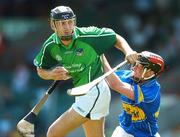 10 June 2007; Kieran Kenneally, Limerick, in action against Timmy Minogue, Tipperary. Munster Intermediate Hurling Championship Semi-Final, Limerick v Tipperary, Gaelic Grounds, Limerick. Picture credit: Brendan Moran / SPORTSFILE