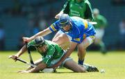 10 June 2007; Alan O'Connor, Limerick, in action against Jim Bob McCarthy, Tipperary. Munster Intermediate Hurling Championship Semi-Final, Limerick v Tipperary, Gaelic Grounds, Limerick. Picture credit: Brendan Moran / SPORTSFILE