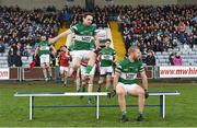 9 November 2014; Portlaoise's Brian Mulligan, left, and Cahir Healy prepare for the team photograph before the game. AIB Leinster GAA Football Senior Club Championship, Quarter-Final, Portlaoise v St Vincent's, O'Moore Park, Portlaoise, Co. Laois. Picture credit: Pat Murphy / SPORTSFILE