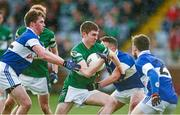 9 November 2014; Graham Brody, Portlaoise, in action against Cormac Diamond, left, Shane Carthy, centre, and Tiernan Diamond, St Vincent's. AIB Leinster GAA Football Senior Club Championship, Quarter-Final, Portlaoise v St Vincent's, O'Moore Park, Portlaoise, Co. Laois. Picture credit: Pat Murphy / SPORTSFILE