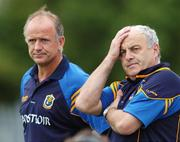 17 June 2007; Roscommon manager John Maughan and selector Gerry Fitzmaurice, right, show their dejection in the final minutes. Bank of Ireland Connacht Senior Football Championship Semi-Final, Sligo v Roscommon, Dr. Hyde Park, Roscommon. Picture credit: Ray Ryan / SPORTSFILE