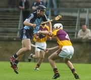 20 June 2007; Diarmuid Connolly, Dublin, in action against Bobby Kenny, Wexford. Erin Leinster U21 Hurling Championship, Dublin v Wexford. Parnell Park, Dublin. Picture credit: Pat Murphy / SPORTSFILE
