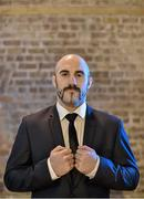 12 November 2014; Spike O'Sullivan after a press conference ahead of his bout against Anthony Fitzgerald on Saturday. Smock Alley Theatre, Dublin. Picture credit: Ramsey Cardy / SPORTSFILE