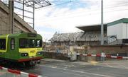 27 June 2007;  A general view of the demolition of the East Stand at Lansdowne Road. Dublin. Picture credit: Matt Browne / SPORTSFILE