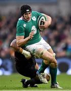 16 November 2014; Tommy O'Donnell, Ireland, is tackled by Dimitri Basilaia, Georgia. Guinness Series, Ireland v Georgia, Aviva Stadium, Lansdowne Road, Dublin. Picture credit: Stephen McCarthy / SPORTSFILE