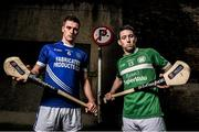 18 November 2014; #TheToughest – Cratloe's Conor Ryan, left, and Killmallock captain Graeme Mulchay are pictured ahead of the AIB GAA Munster Senior Hurling Club Championship Final on the 23rd of November where they will face off in Páirc na nGael. This is the first time Cratloe has reached the Munster Senior Hurling Club Final. It has been two decades since Killmallock reached the Munster Senior Hurling Club Final. For exclusive content and to see why the AIB Club Championships are #TheToughest follow us @AIB_GAA and on Facebook at facebook.com/AIBGAA. Ely Place, Dublin. Picture credit: Stephen McCarthy / SPORTSFILE