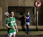 18 November 2014; #TheToughest – Killmallock captain Graeme Mulchay, left, and Cratloe's Conor Ryan, right, are pictured ahead of the AIB GAA Munster Senior Hurling Club Championship Final on the 23rd of November where they will face off in Páirc na nGael. This is the first time Cratloe has reached the Munster Senior Hurling Club Final. It has been two decades since Killmallock reached the Munster Senior Hurling Club Final. For exclusive content and to see why the AIB Club Championships are #TheToughest follow us @AIB_GAA and on Facebook at facebook.com/AIBGAA. Ely Place, Dublin. Picture credit: Stephen McCarthy / SPORTSFILE
