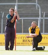 12 June 2007; Manager Colm Coyle, left, and Selector Tommy Dowd oversee Meath training in advance of the Bank of Ireland Leinster Senior Football Champoinship Replay against Dublin on Sunday. Pairc Tailteann, Navan, Co. Meath. Picture credit Paul Mohan / SPORTSFILE *** Local Caption ***