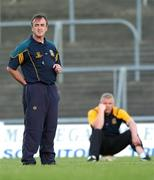 12 June 2007; Manager Colm Coyle, left, and Selector Tommy Dowd oversee Meath training in advance of the Bank of Ireland Leinster Senior Football Champoinship Replay against Dublin on Sunday. Pairc Tailteann, Navan, Co. Meath. Picture credit Paul Mohan / SPORTSFILE