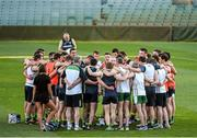 19 November 2014; Selector Tony Scullion speaks to the Irish players during squad training ahead of their International Rules Series game against Australia on Saturday 22nd November. Ireland International Rules Squad Training, Paterson's Stadium, Subiaco, Perth, Australia. Picture credit: Ray McManus / SPORTSFILE